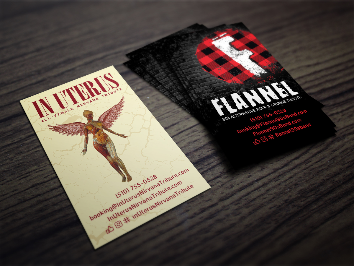 devineportfolio-graphic-design-business-cards-flannel-90s-band-in-uterus-nirvana-tribute